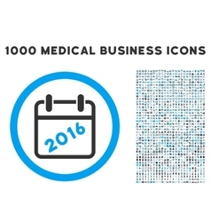 2016 Calendar Icon with 1000 Medical Business vector image