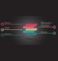 3d infographic template with embossed vector