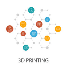 3d printing presentation template cover layout vector