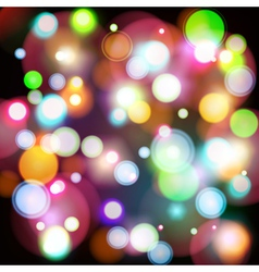 Abstract background with color bokeh lights vector