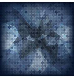 Abstract geometric dark background vector image