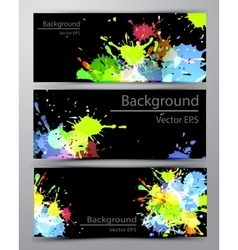 Abstract inkblot colorful banners vector image vector image