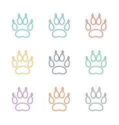 Animal paw icon white background vector
