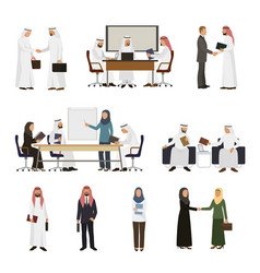 Arab businessman arabian business people vector