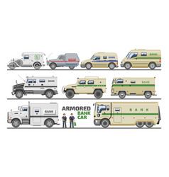 Armored vehicle bank van transport car vector