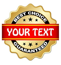 best choice guaranteed label vector image