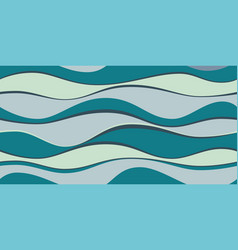 bright colorful abstract waves background vector image
