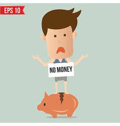 Business man stand on piggy - - EPS10 vector image