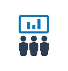 Business presentation icon vector