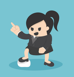 Business woman pointing with confidence vector