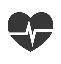 Cardiology heart icon Medical and health care vector