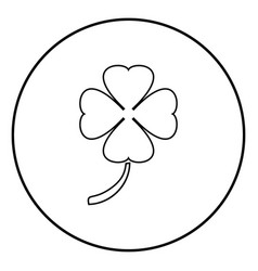 clover icon black color simple image vector image