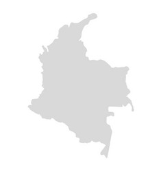 colombia map country vector image