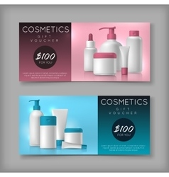 Cosmetic brand template on sale voucher vector