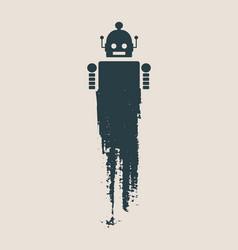 Cute vintage robot vector