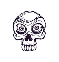 drawing a stylized skull on a white vector image