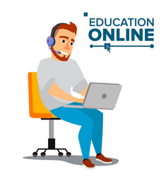 education online home online training vector image