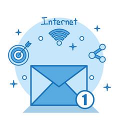 email internet social media applications online vector image