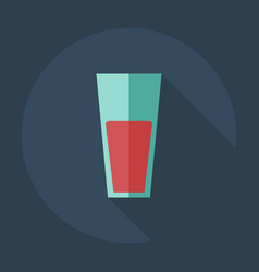 Flat modern design with shadow icons juice vector