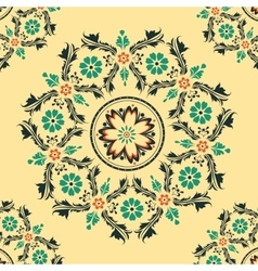 Floral round ornament vector