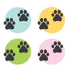 Footprint dog 01 vector
