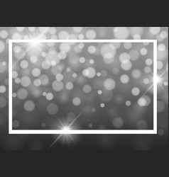 Frame template design with gray lights vector