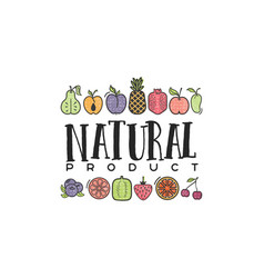 fruits and vegetables vegetarian banner natural vector image