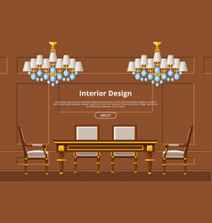 Furniture furnishings design of living-room vector