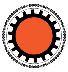 gears and chains vector image