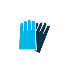 hand protection icon colored symbol premium vector image