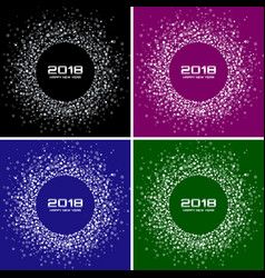 happy new year 2018 card set backgrounds vector image