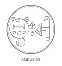 Icon with symbol demon amdusias vector