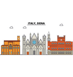 italy siena city skyline architecture vector image