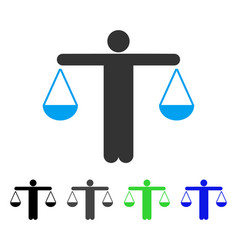 Lawyer weight flat icon vector
