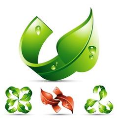 Leaf design element vector