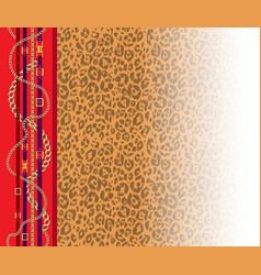 leopard trendy pattern vector image