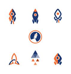 Logo rocket design vector