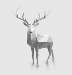 low poly stag with space for text vector image vector image