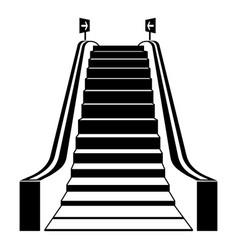 Mall escalator icon simple style vector