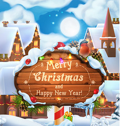Merry Christmas and Happy New Year background 3d vector