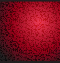 ornamental red pattern vector image