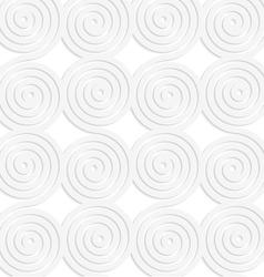 Paper white merging spirals vector