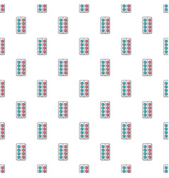 Pills in blister pack pattern seamless vector