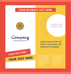 pizza company brochure template busienss template vector image