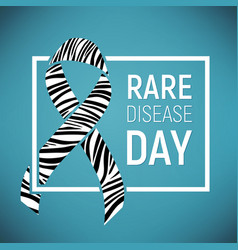 Rare disease awareness day vector