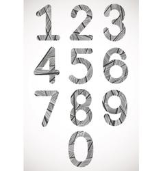 Retro style numbers typeset vector