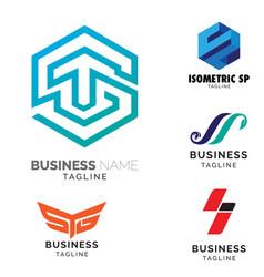s letter based theme logo set volume 2 vector image