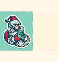 santa claus with bird vector image