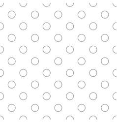 seamless monochrome circle pattern - simple vector image