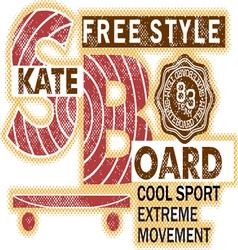 SkateBoard typography t-shirt graphics vector